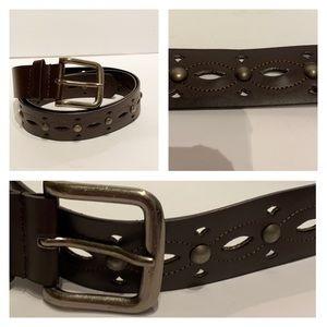 """(L) NWOT- Dark Brown Belt-vegan leather 44"""" long"""
